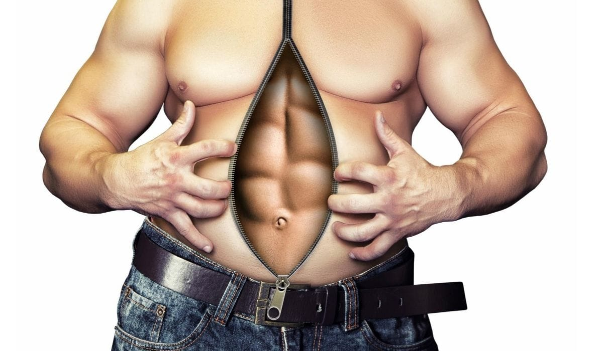 abs behind body fat