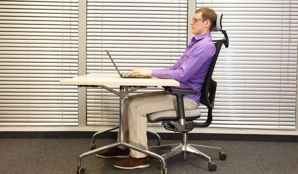 software engineer in sitting position