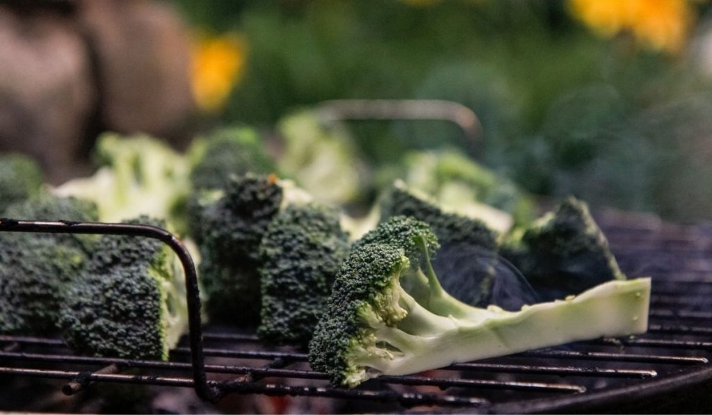 broccoli on the griller